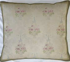 1162P     A  19TH  CENTURY  FRENCH  TEXTILE  PILLOW  22 X 20