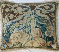 116P     A  16TH  CENTURY  BRUSSELS  TAPESTRY  PILLOW  23 X 19