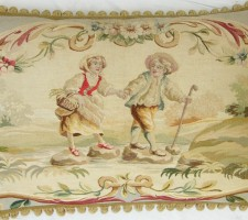 1225P   A  18TH  CENTURY   FRENCH  TAPESTRY PILLOW  29 X 21