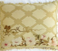 1226P   Ca.1850  A  FRENCH AUBUSSON  PILLOW  24 X 19