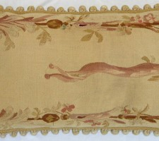 1287P   A  19TH  CENTURY FRENCH AUBUSSON  PILLOW PILLOW 24 X 1