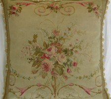 1309P   Ca.1860   ANTIQUE FRENCH AUBUSSON 23 X 22