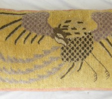1310P     A  19TH  CENTURY  CHINESE  PILLOW  34 X 16