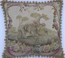 1369P    A  18TH  CENTURY  FRENCH  AUBUSSON  PILLOW 23 X 22