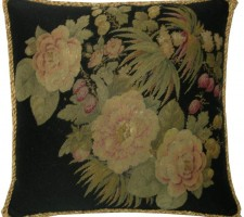 1380P   A 19TH  CENTURY  FRENCH  NEEDLEPOINT PILLOW 18 X 18