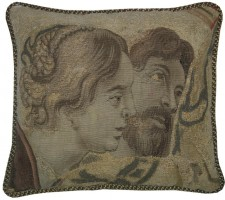 1384P   A  17TH  CENTURY  BRUSSELS  PILLOW  17 X 16