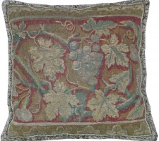 1414P  A   17TH CENTURY  BRUSSELS  TAPESTRY   PILLOW  19 X 19