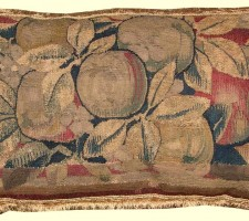 1416P  A  17TH CENTURY BRUSSELS  TAPESTRY  PILLOW 21 X 13