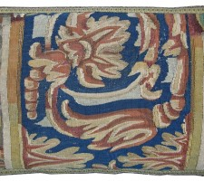 1430P   A   17TH CENTURY   BRUSSELS TAPESTRY  PILLOW  17 X 10