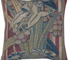 1434P   A  16TH  CENTURY  BRUSSELS BAROQUE TAPESTRY  PILLOW 13 X 13