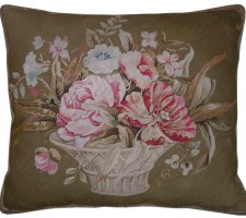 1463P  Ca.  1860  A FRENCH AUBUSSON  PILLOW  25 X 22