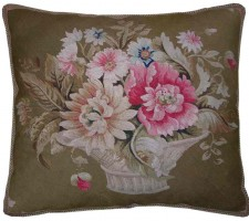 1464P   Ca. 1860  A  FRENCH  AUBUSSON  PILLOW  23 X 21