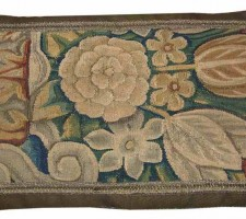 1468P  A  17TH CENTURY  BRUSSELS  TAPESTRY PILLOW  20 X 12