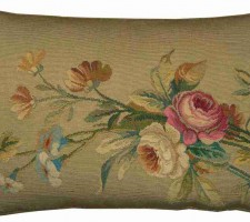 1486P   A  FRENCH  AUBUSSON  Ca. 1850  PILLOW  17 X 11