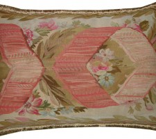 1506P  Ca. 1860   A  FRENCH  AUBUSSON   PILLOW   26 X 17