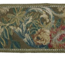 1511P   A  17TH  CENTURY  FLEMISH  TAPESTRY  PILLOW  26 X 9