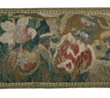 1512P   A  17TH  CENTURY  FLEMISH  TAPESTRY  PILLOW  26 X 9