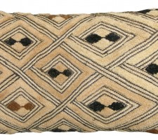 1524P   A 20TH  CENTURY  ARAFFIA  VELVET  TEXTILE  PILLOW 21 X 11