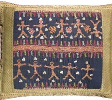 1540P   Ca. 1880  ANTIQUE  UZBAK  PILLOW  PILLOW  15 X 12