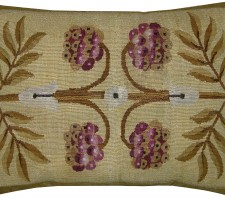1571P  Ca.1850  A FRENCH AUBUSSON PILLOW  22 X 17