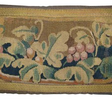 1628P    A  17TH CENTURY FLEMISH TAPESTRY PILLOW 19 X 11