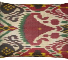 1644P   Ca. 1900   ANTIQUE  IKAT  PILLOW  19 X 14