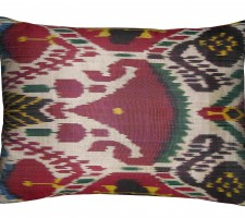1645P   Ca.1900   ANTIQUE  IKAT  PILLOW  19 X 14