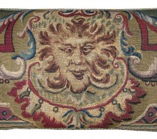 1668P   16TH CENTURY  A  BRUSSELS BAROQUE TAPESTRY PILLOW  28 X 15
