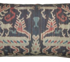 1670P   Ca.1850   ANTIQUE  IKAT  PILLOW  27 X 16