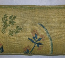 1685P   17TH CENTURY  A BRUSSELS TAPESTRY PILLOW  24 X 12