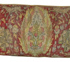 1703P   Ca.1900   A SILK TURKISH PILLOW  29 X 11