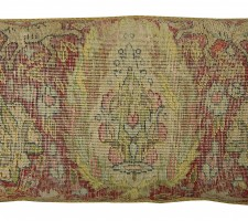 1704P   Ca.1900  A SILK TURKISH  PILLOW  29 X 12