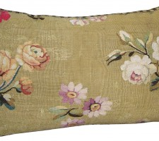 1707P   Ca.1860   A  FRENCH  AUBUSSON  PILLOW  23 X 15