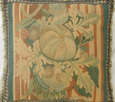 170P    A  19TH  CENTURY  FRENCH  AUBUSSON  TAPESTRY  PILLOW 17 X 17