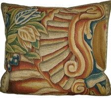 1712P   17TH CENTURY  A  BRUSSELS  TAPESTRY  PILLOW  21 X 19