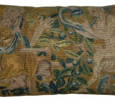 1717P   17TH CENTURY  A  FLEMISH TAPESTRY PILLOW  25 X 15