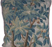1734P   17TH CENTURY  ANTIQUE FLEMISH TAPESTRY PILLOW 29 X 26