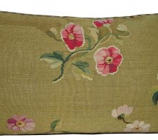 1749P   Ca.1860  ANTIQUE FRENCH AUBUSSON TAPESTRY PILLOW 23 X 14