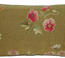 1750P   Ca.1860  ANTIQUE FRENCH AUBUSSON TAPESTRY PILLOW 23 X 14