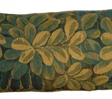 1751P   17TH CENTURY  ANTIQUE BRUSSELS TAPESTRY PILLOW 30 X 14