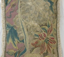 176P     A  17TH  CENTURY  BRUSSELS  TAPESTRY  PILLOW  19 X 14