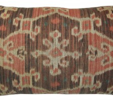 1770P  Ca.1850  ANTIQUE  IKAT  PILLOW  23 X 14