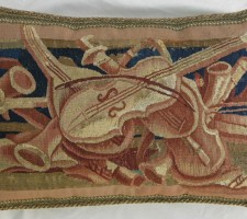 210P     A  16TH  CENTURY  BRUSSELS  TAPESTRY  PILLOW  25 X 17