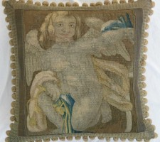 1005P     A  16TH  CENTURY  FLEMISH    TAPESTRY  PILLOW 20 X 20