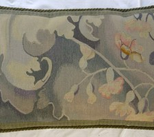1165P    A  19TH  CENTURY  FRENCH  AUBUSSON  PILLOW 27 X 17