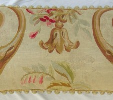 1188P    A  19TH  CENTURY  FRENCH  AUBUSSON  PILLOW  29 X 15