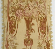 1288P     A  19TH  CENTURY   FRENCH  AUBUSSON  TAPESTRY  PILLOW  24 X 15