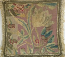 205P      A  17TH  CENTURY  BRUSSELS  TAPESTRY  PILLOW 16 X 16