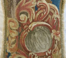 483P     A  16TH  CENTURY  BRUSSELS  TAPESTRY  PILLOW  15 X 12