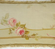 590Y     A  19TH  CENTURY  FRENCH   AUBUSSON  TAPESTRY  PILLOW 23 X 15